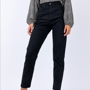 princess polly // afends black high waisted jeans